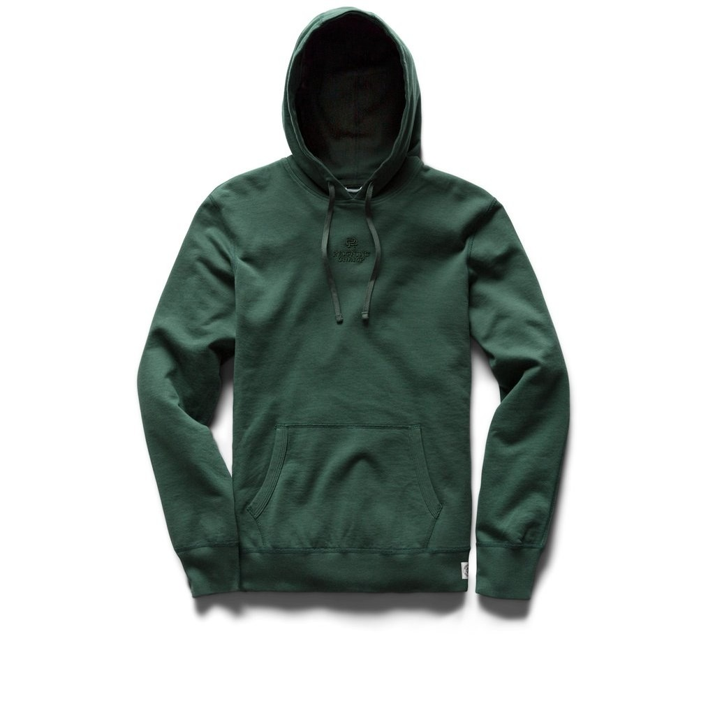 Reigning Champ Embroidered Logo Pullover: Court Green