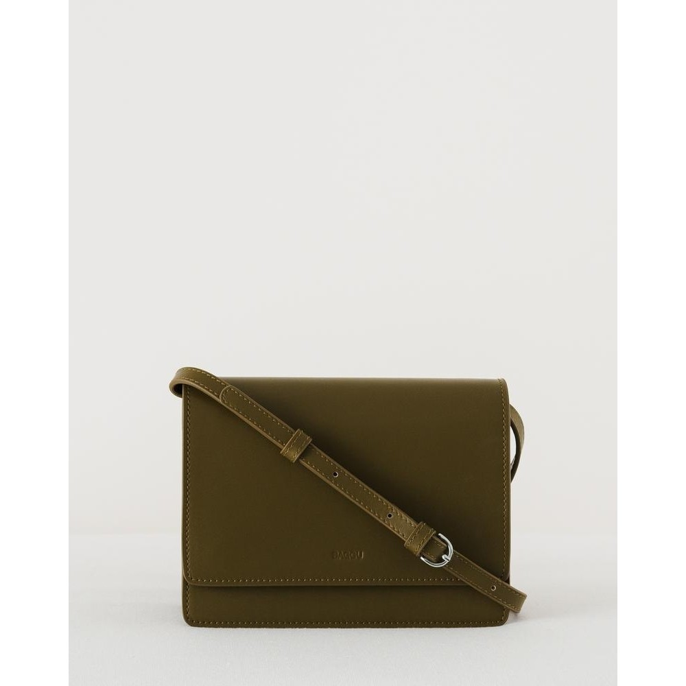 Small Structured Crossbody: Kelp