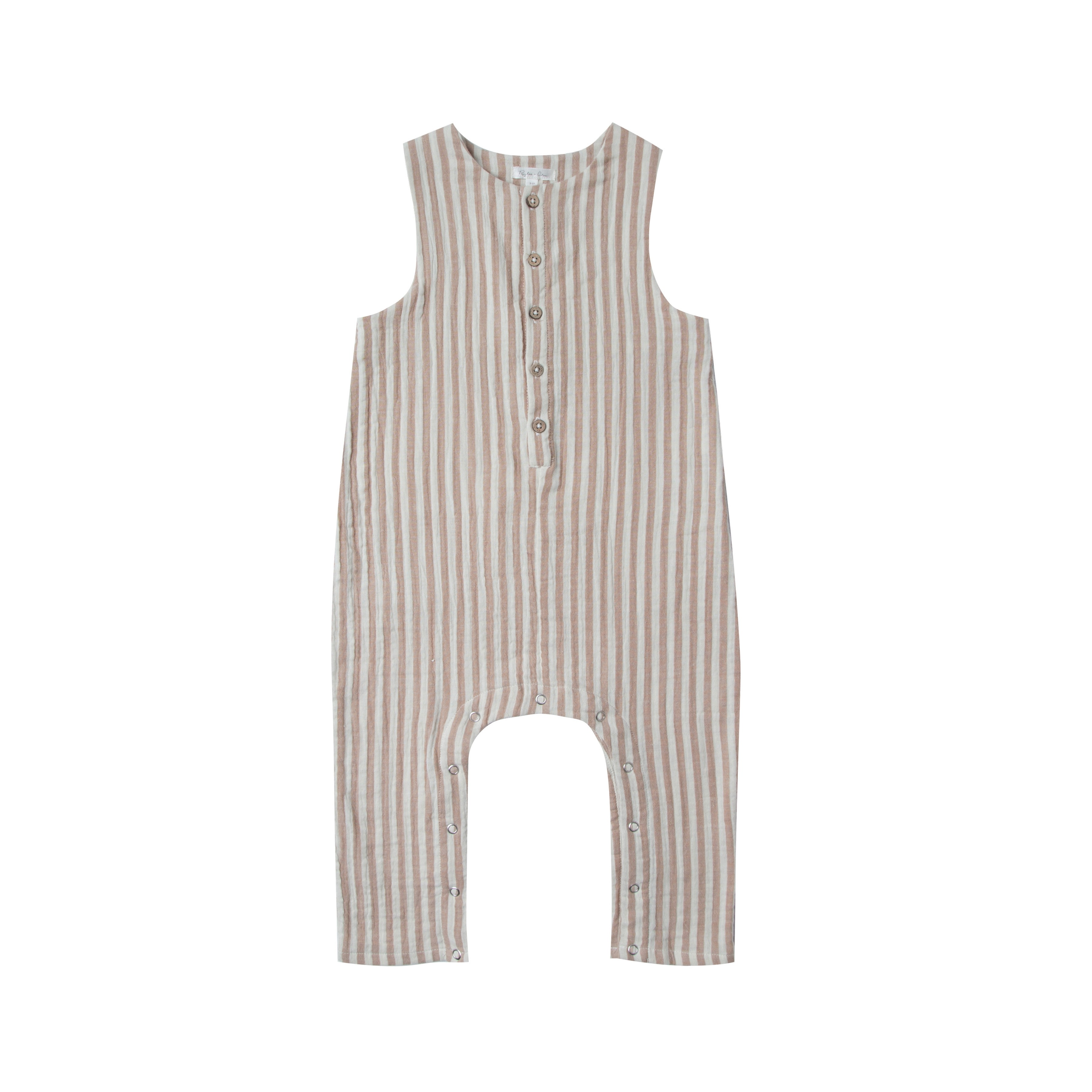 Rylee and Cru Cocoa Stripe Jumpsuit