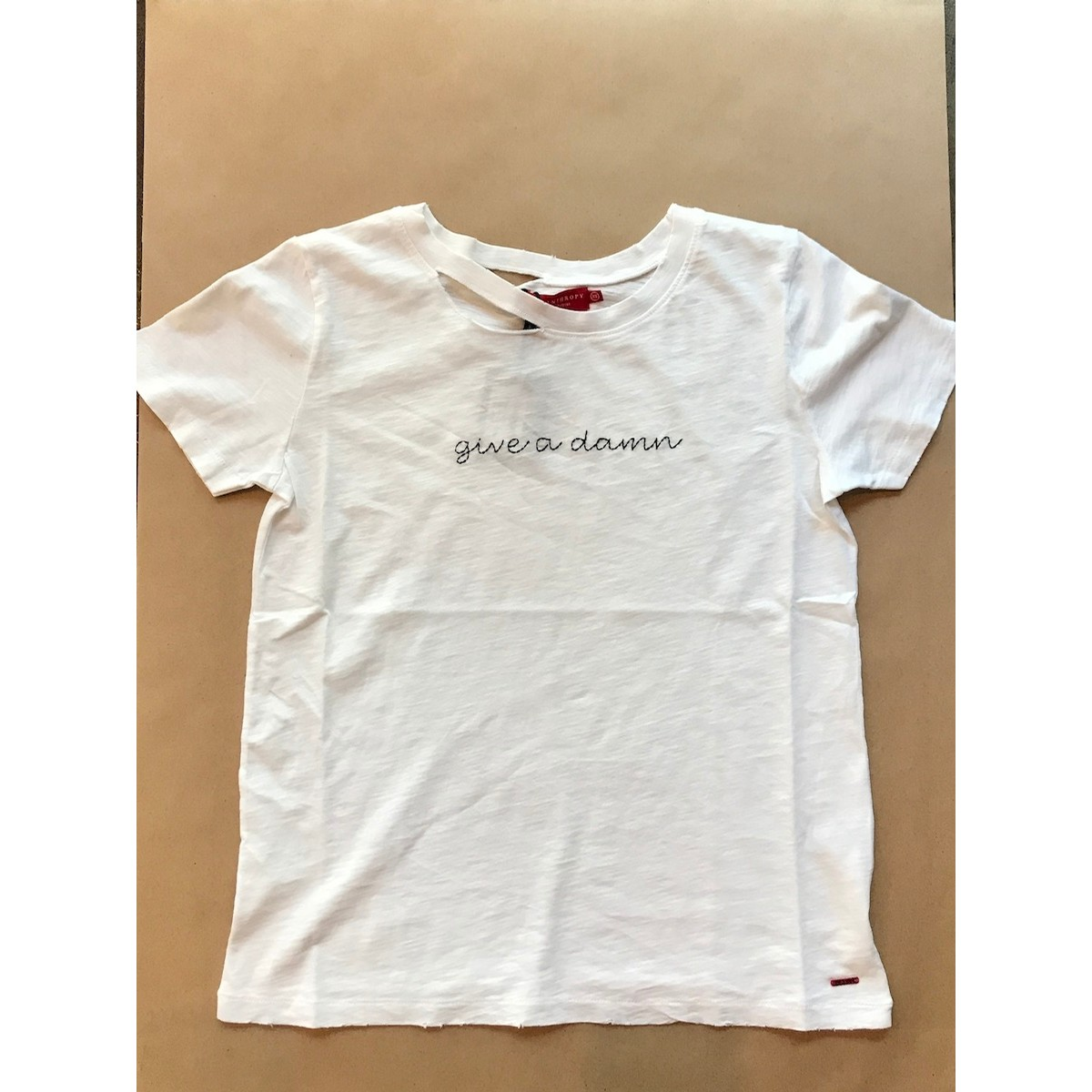 N:Philanthropy Harlow Tee Give a Damn: White
