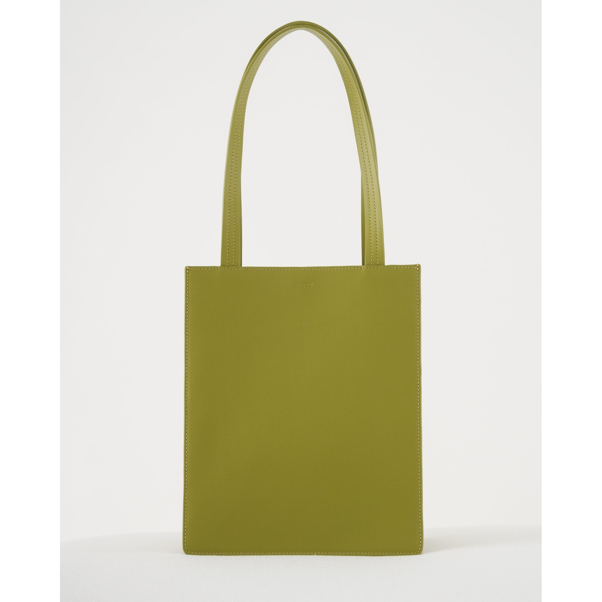 Medium Leather Tote: Spanish Moss