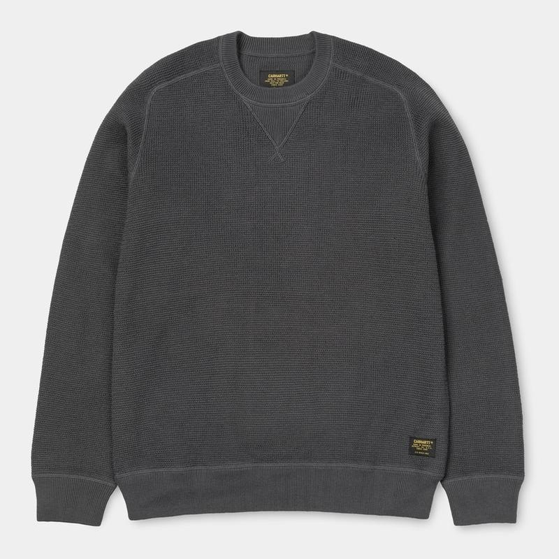 Carhartt WIP Moross Sweater: Blacksmith
