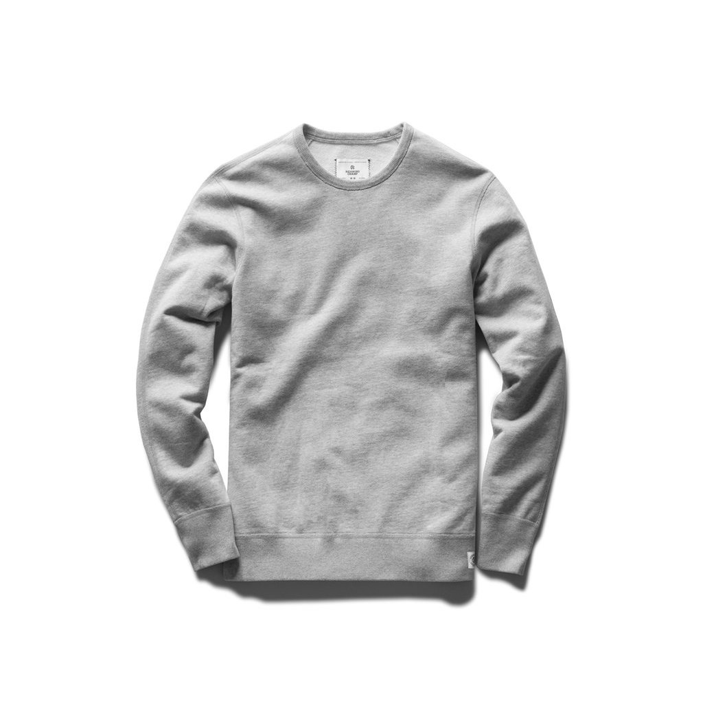 Reigning Champ Light Weight Terry Crewneck: Heather Ash