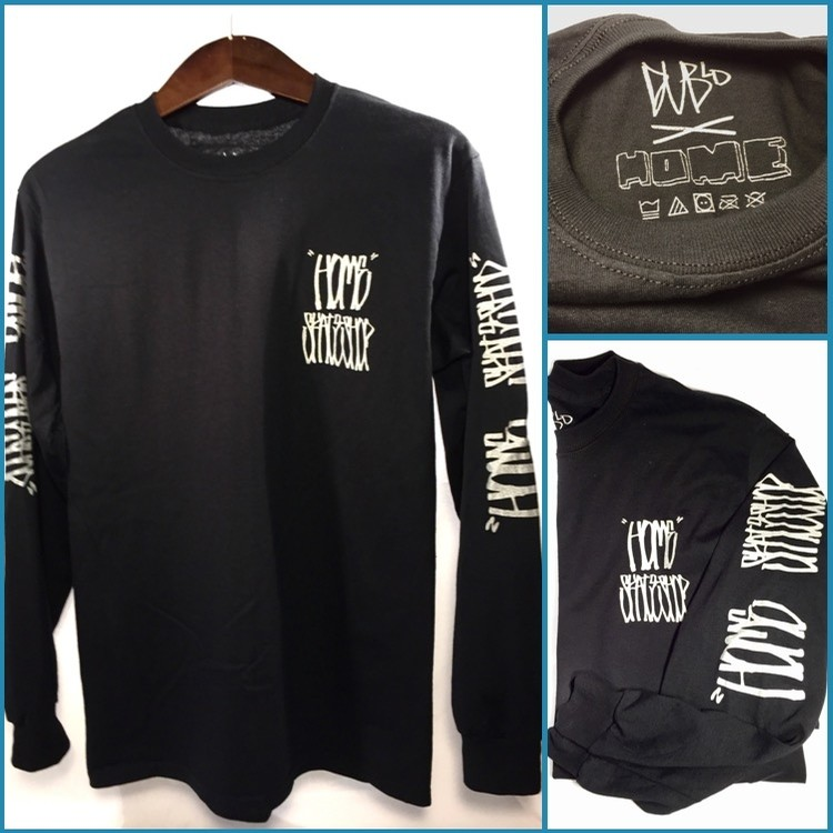 Home Skateshop Dub X Home Long Sleeve (Black/Chrome)