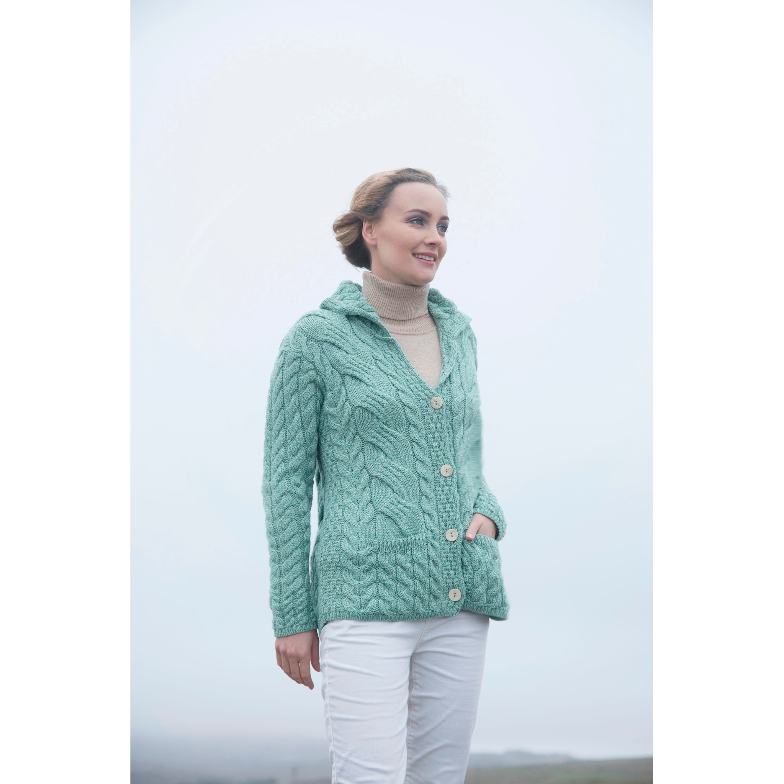Irish Button Cardigan