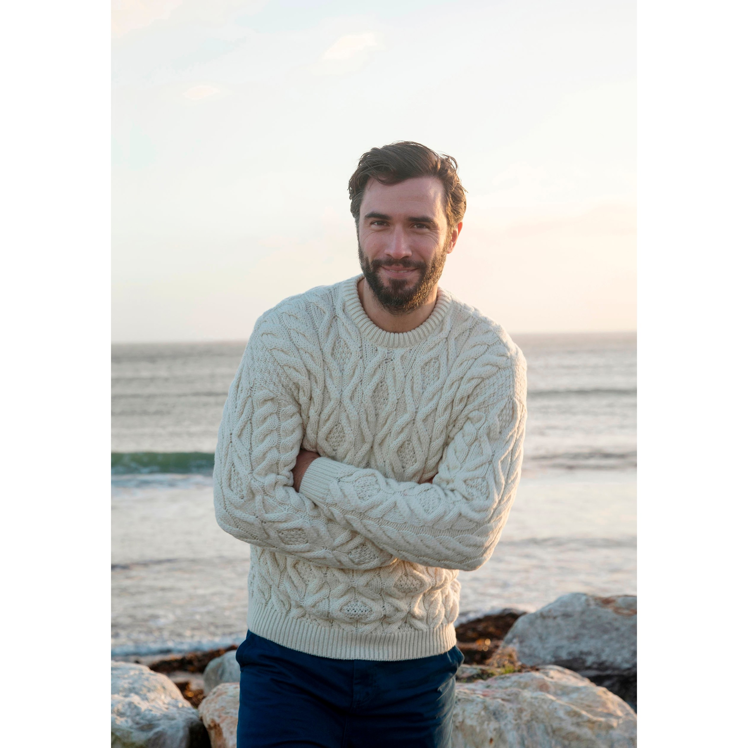 Supersoft Merino Aran Sweater