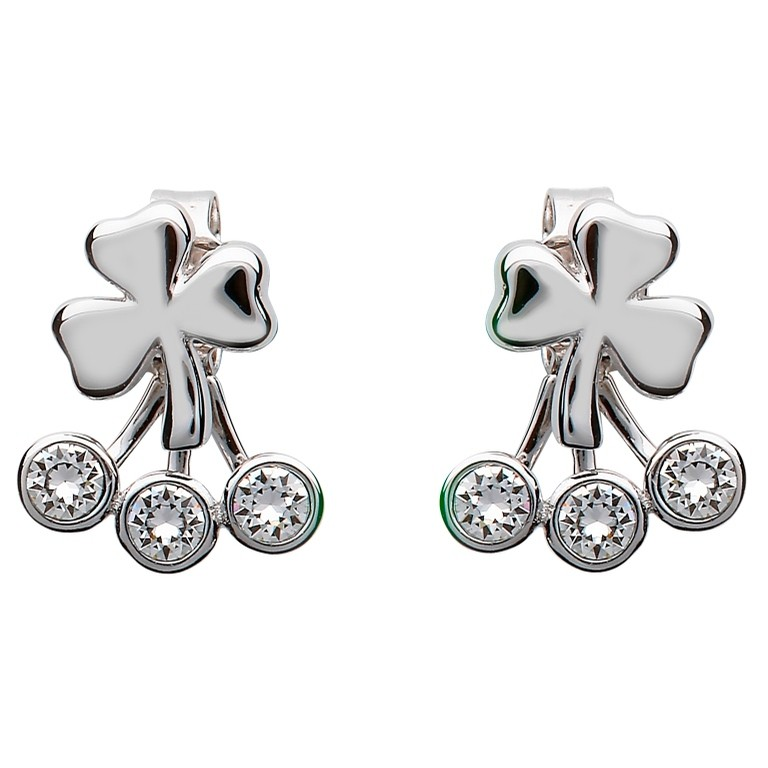 Peek a boo Shamrock Earrings