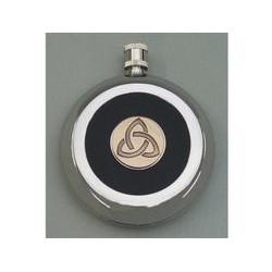 Irish Brass Trinity Knot Flask