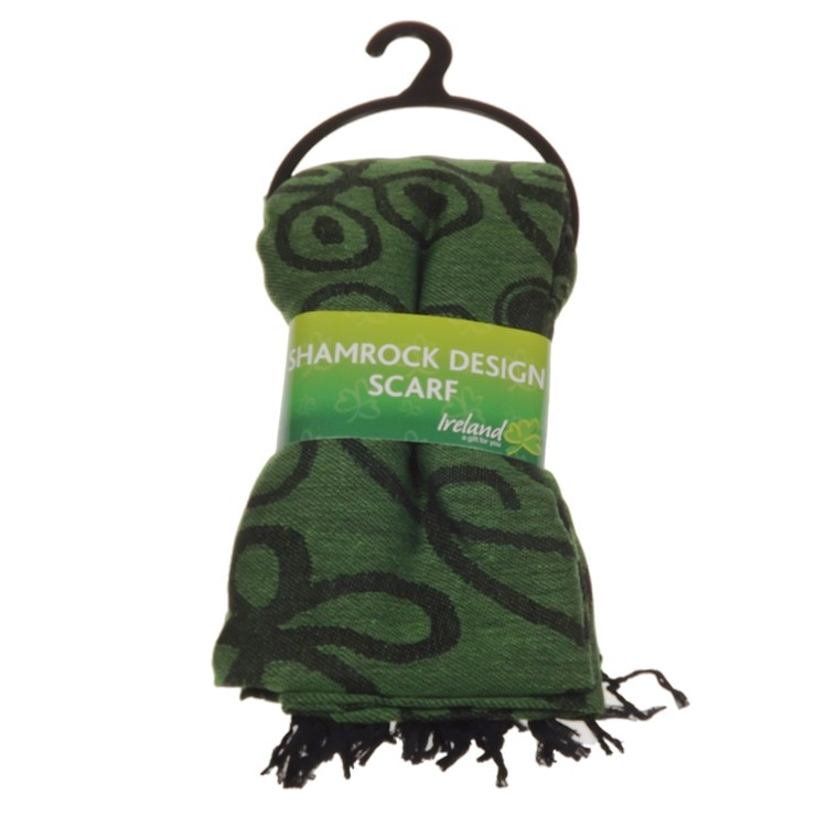 JC Walsh Shamrock Celtic Scarf Green