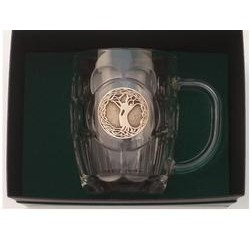 Irish Brass Tree of Life Tankard