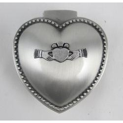 Mullingar Pewter Claddagh Heart Shaped Jewelry Box