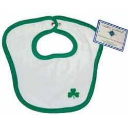 Creative Knit Wear Childrens juice Bib Shamrock