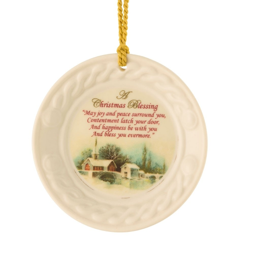 Christmas Blessing and Scene Plate Ornament