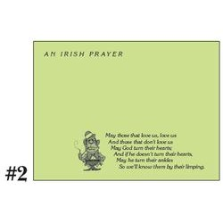 Sexton Post-It Note Pads - Irish Prayer Love