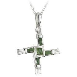 Solvar Jewelry Sterling Silver Marble St. Bridget's Pendant
