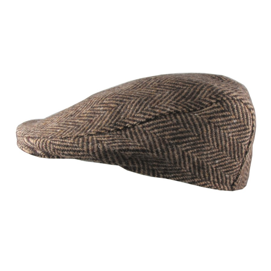 Brown Herringbone Tailor Cap