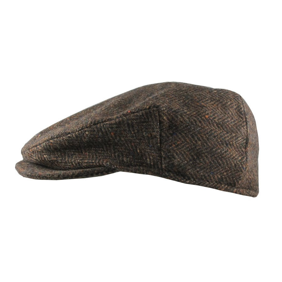 Dark Brown Herringbone Vintage Cap