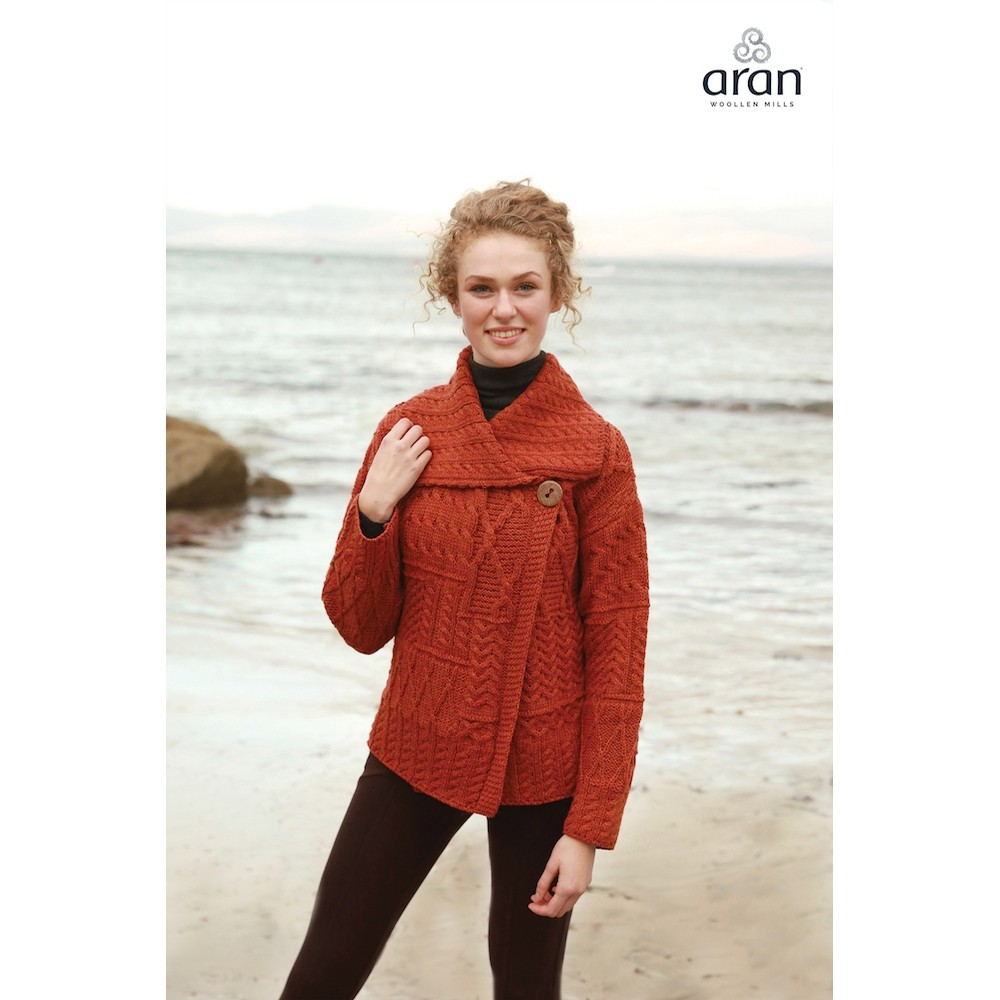 Rust Irish Cardigan
