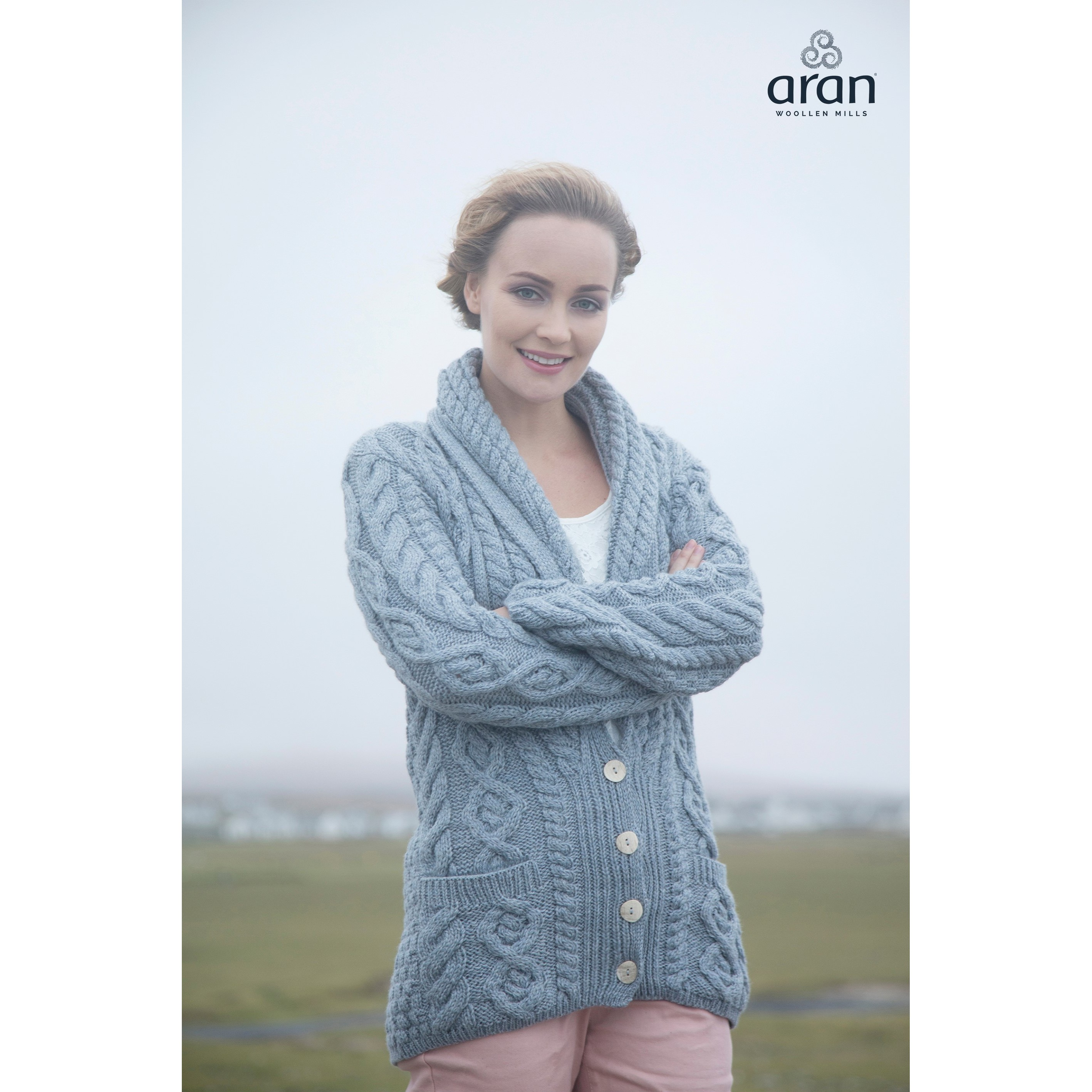 Supersoft Merino Aran Cardigan