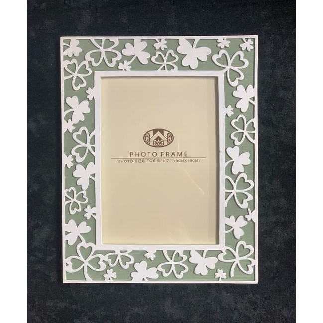 Shamrock Photo Frame 5x7 inch