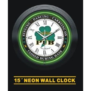 Neon Irish Pub Clock