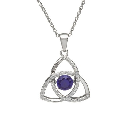 Birthstone Trinity Pendant (September)