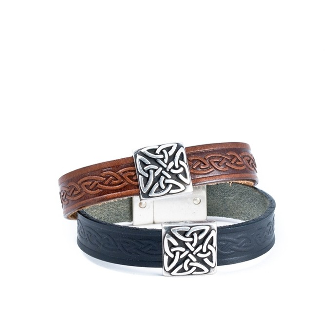 Celtic Leather Cuff from Ireland (Braden Brown)