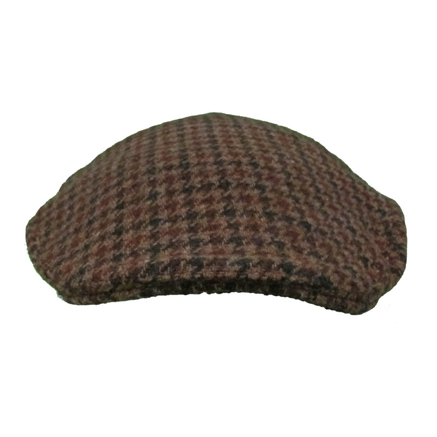 Brown Houndstooth Touring Cap
