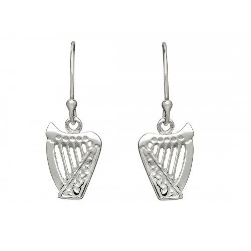 Sterlings Silver Harp Drop Earrings