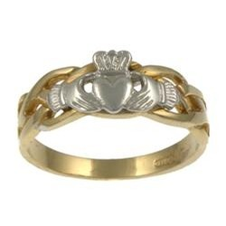 Facet Jewelry Sterling Silver Celtic Claddagh Ring