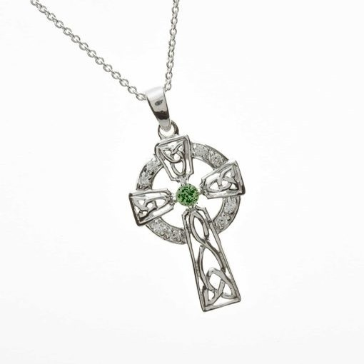 Celtic Cross with Emerald CZ