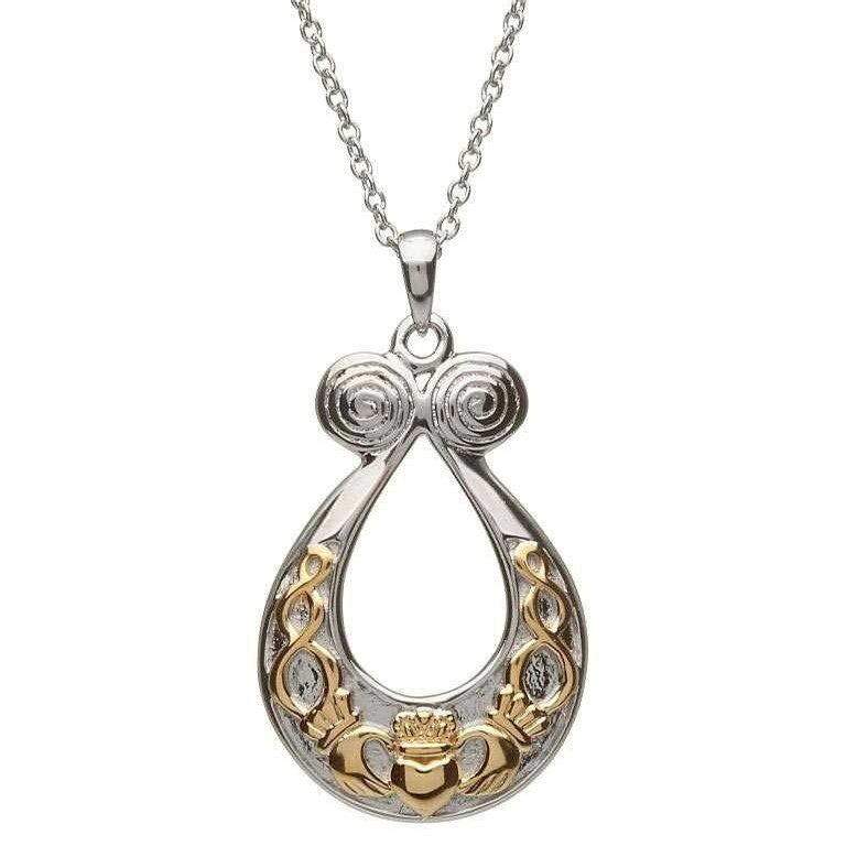 Claddagh Knot Spiral Pendant