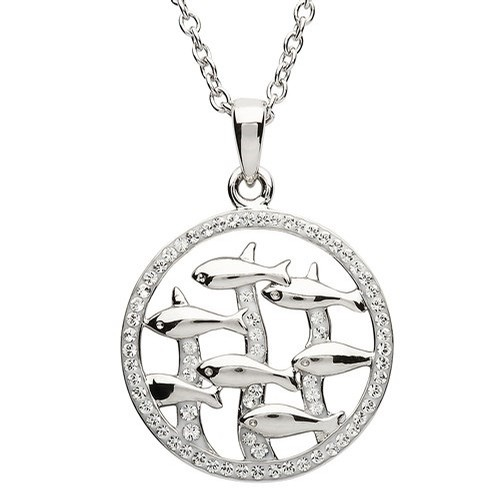 Dolphin Swimming Pendant