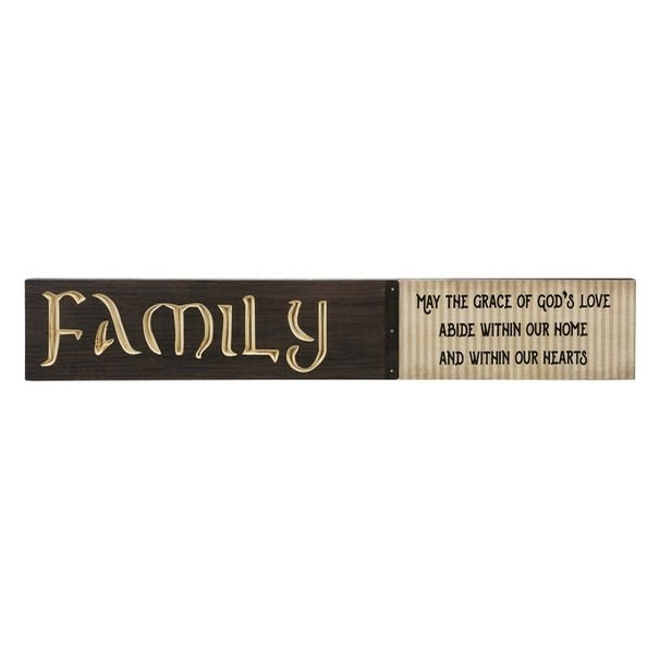 Irish Engraved Wooden Plaque (Family Blessing)