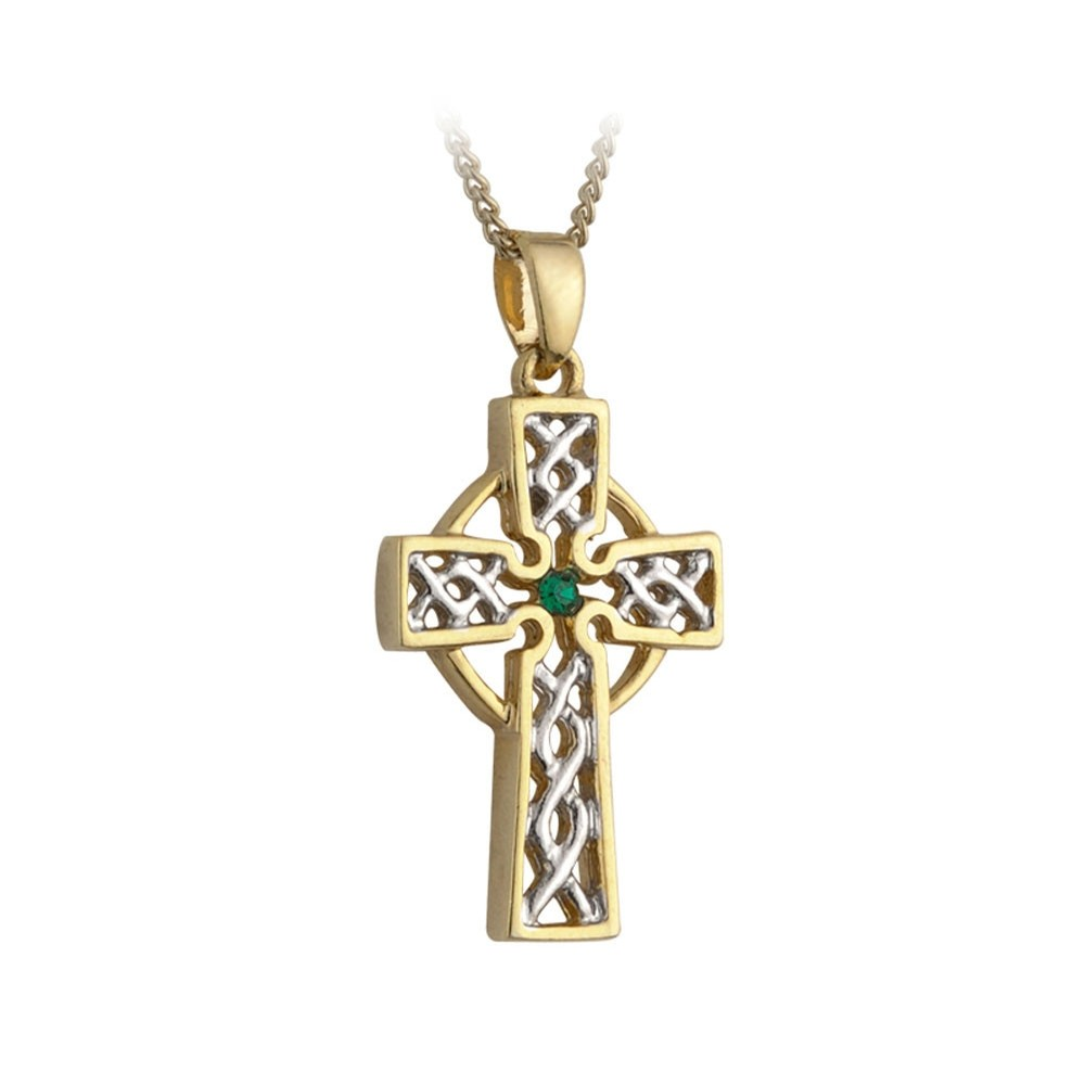 Solvar Jewelry Two Tone Filagree Cross Pendant