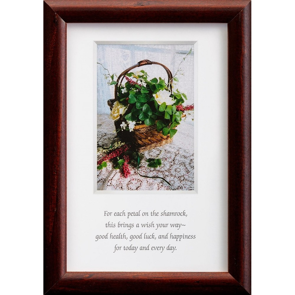 Irish Health Happiness and Luck Blessing Framed
