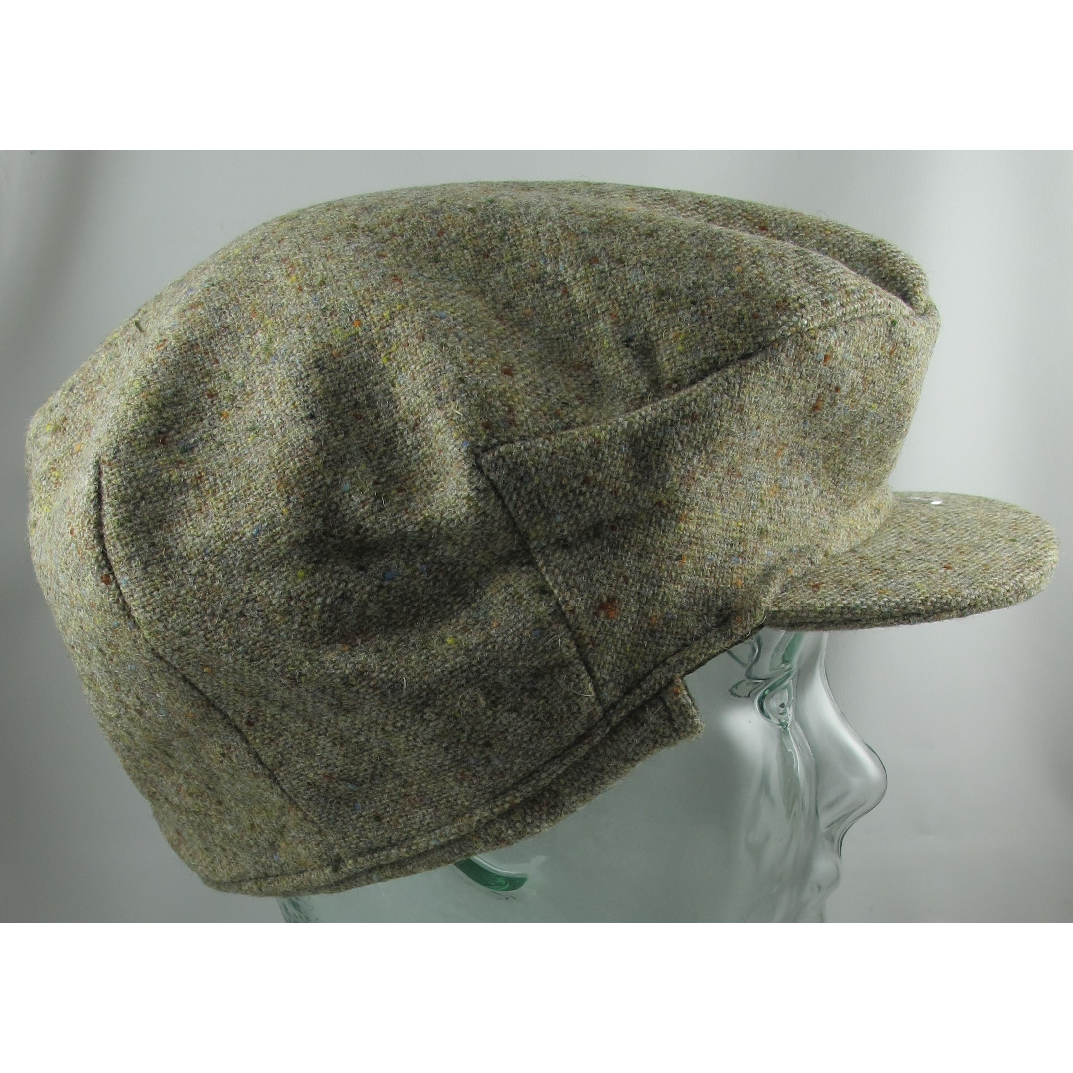 Cream Speckled Vintage Cap with Flaps