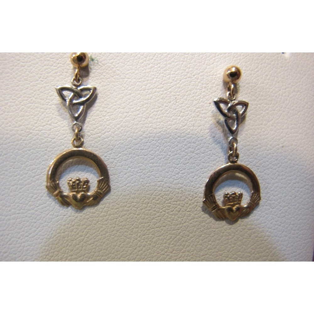 Trinity Knot and Claddagh Earrings