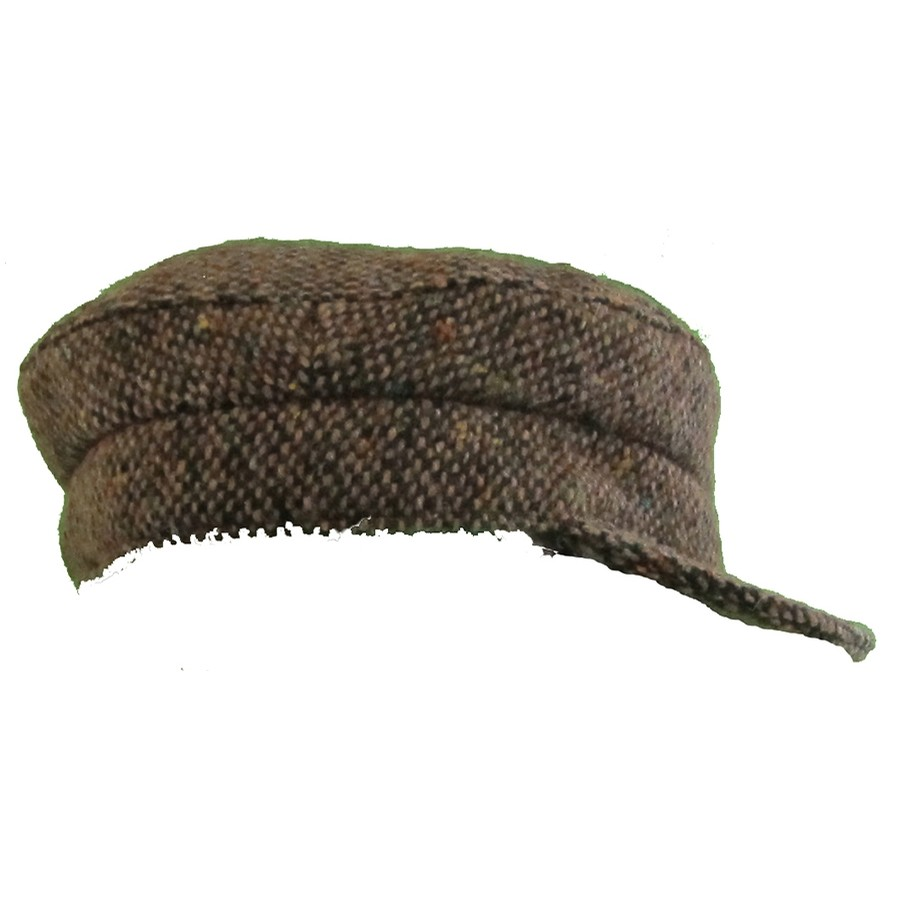 Brown Salt and Pepper Skipper Hat