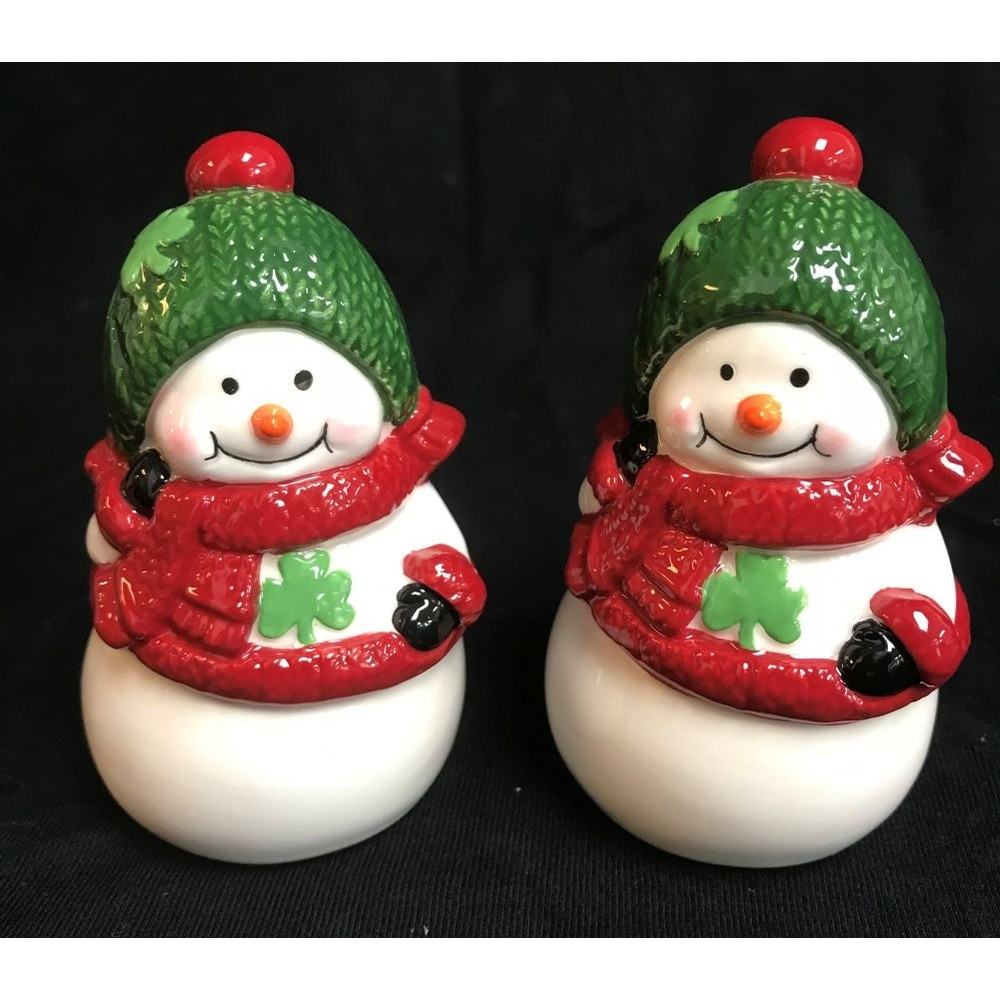 Irish Snowman Salt and Pepper