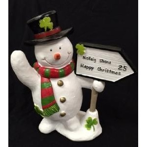 Irish Snowman with Road Sign