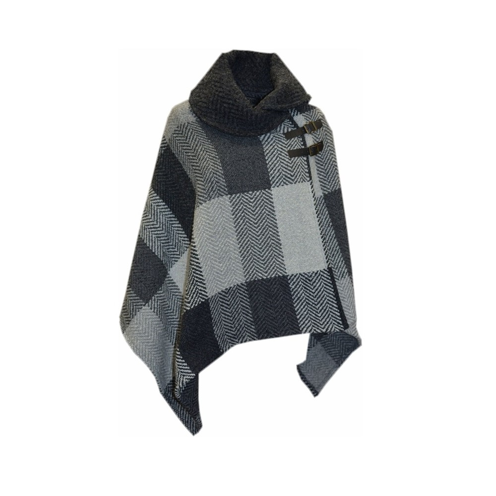 Irish Shawl Collar Cape (Donegal Grey)