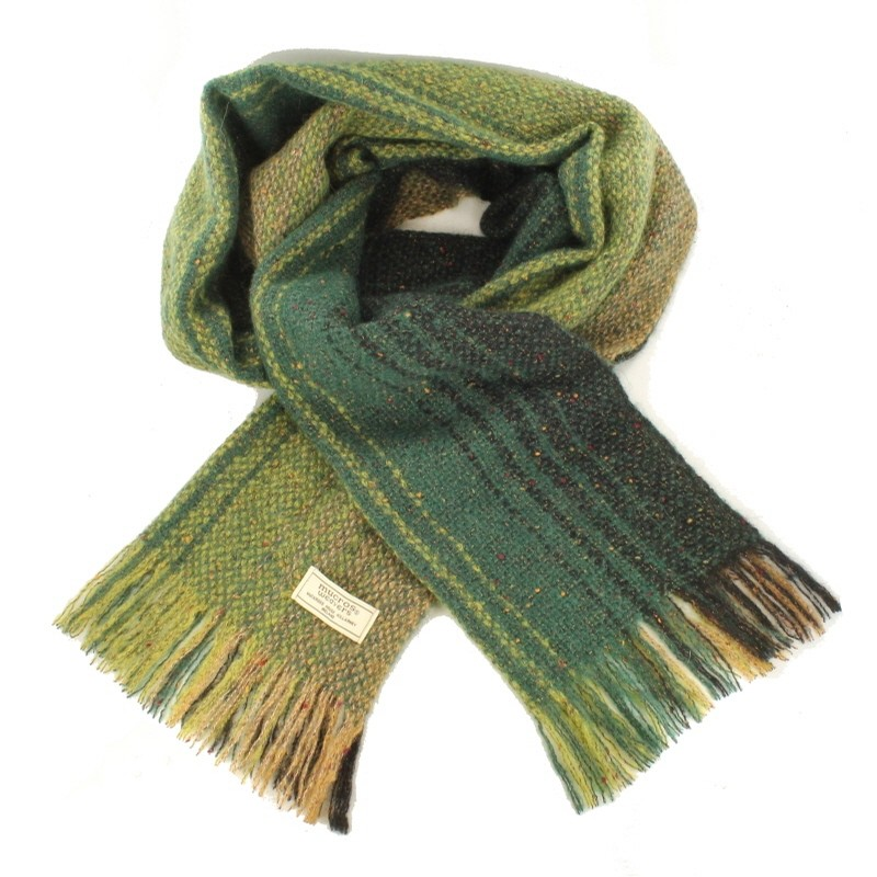 Multi Green Islander Irish Scarf