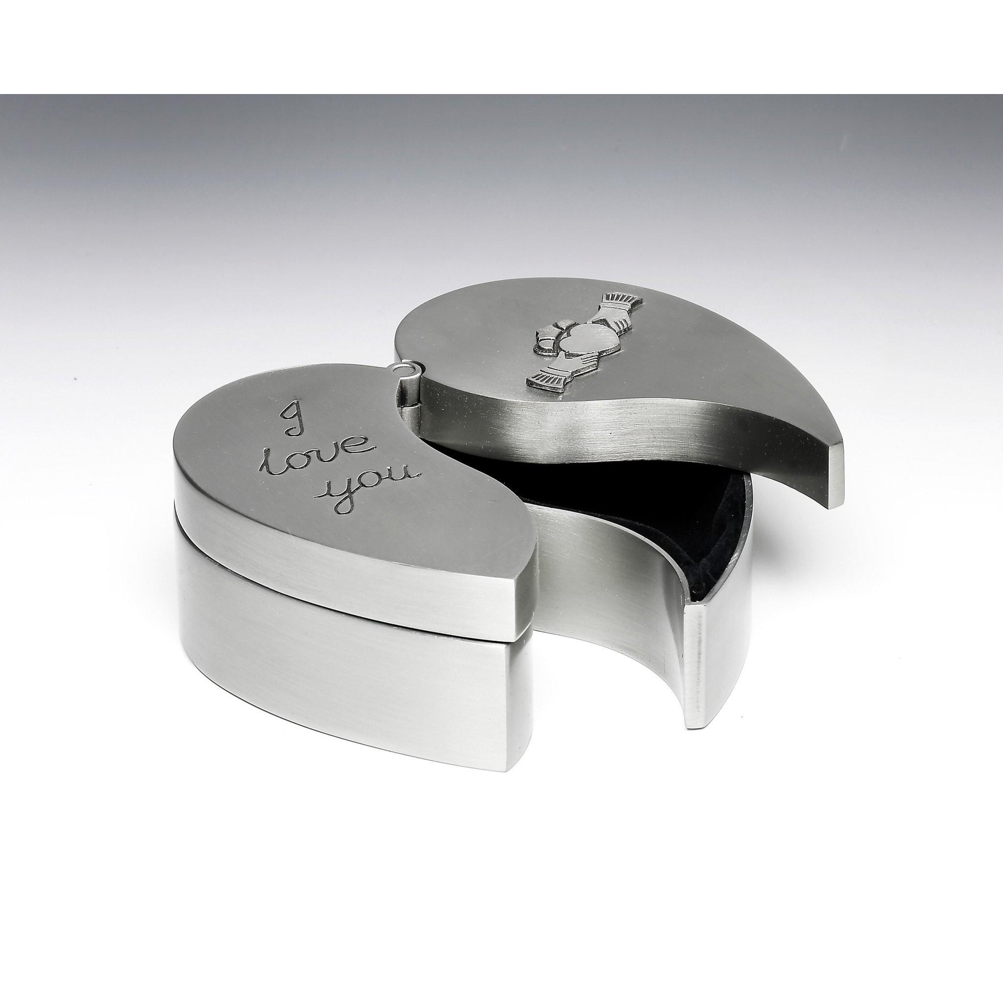Irish Heart Jewelry Box