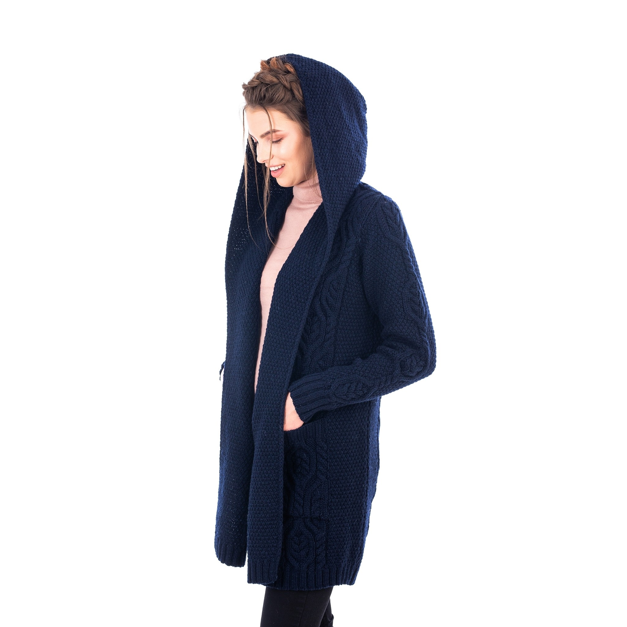 Irish Hooded Coat Cardigan