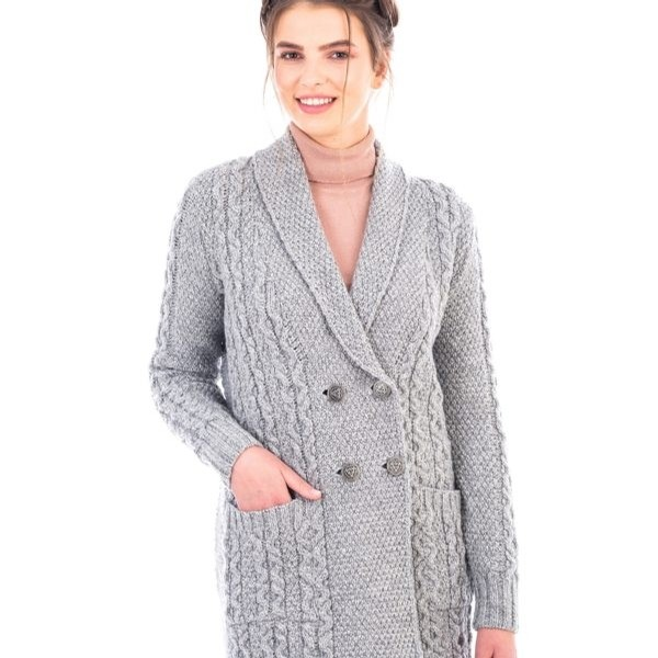 Irish Shawl Collar Coat