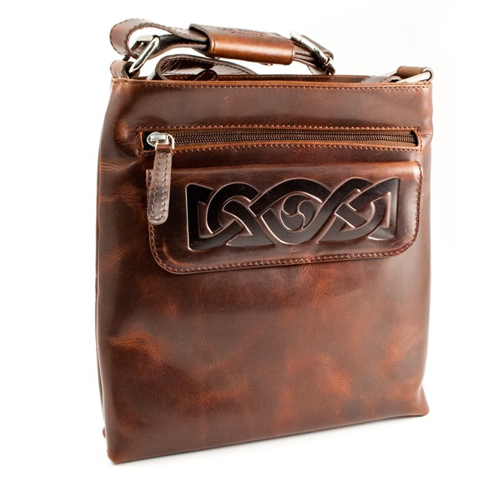 Leather Celtic Knot Shoulder Bag