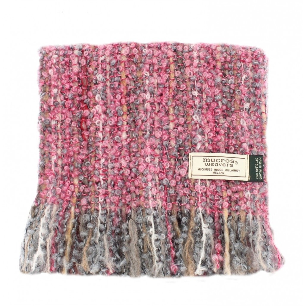 Irish Mohair Viscose Scarf (Speckled Rose)