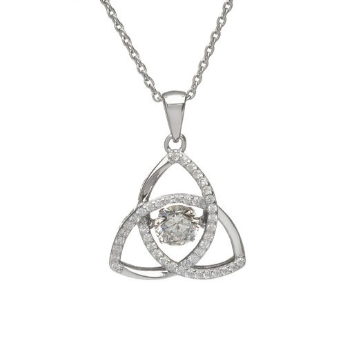 Birthstone Trinity Pendant (April)
