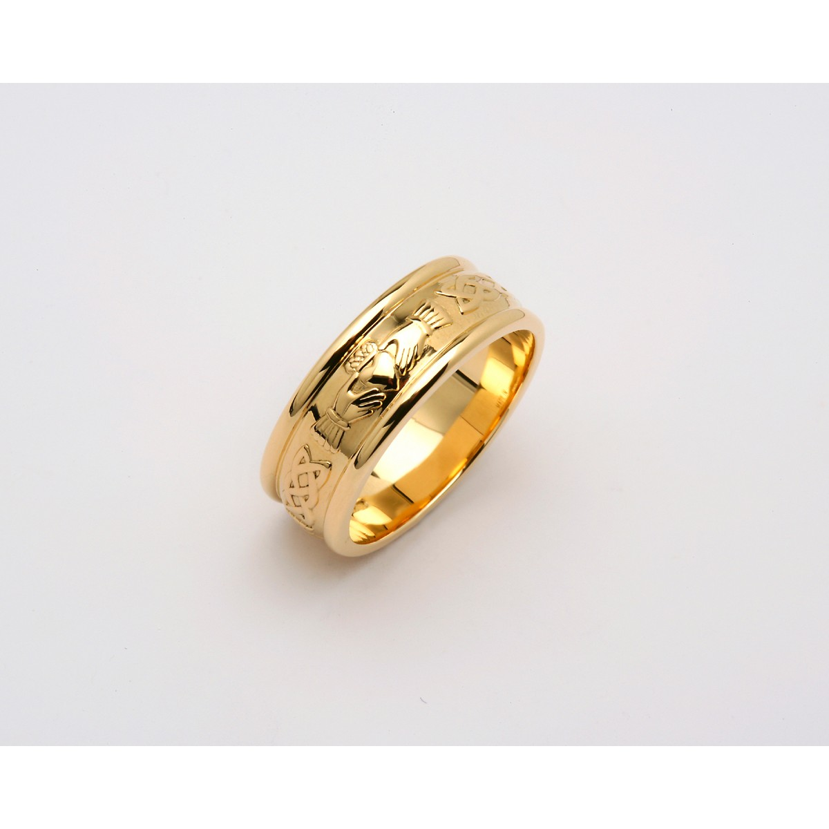 Wide Corrib Claddagh Wedding Band